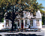 The tourist area of Stellenbosch has many historic buildings, such as this one in nearby Drostdy Street