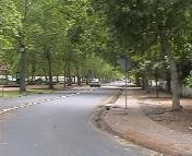 Victoria Street in central Stellenbosch is located on the Stellenbosch University campus